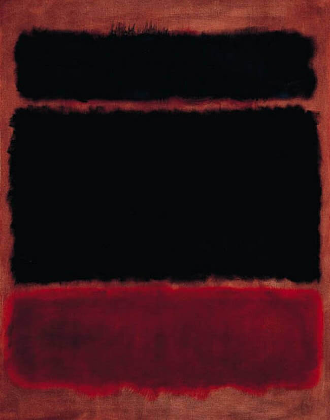 Black in Deep Red, 1957 by Mark Rothko