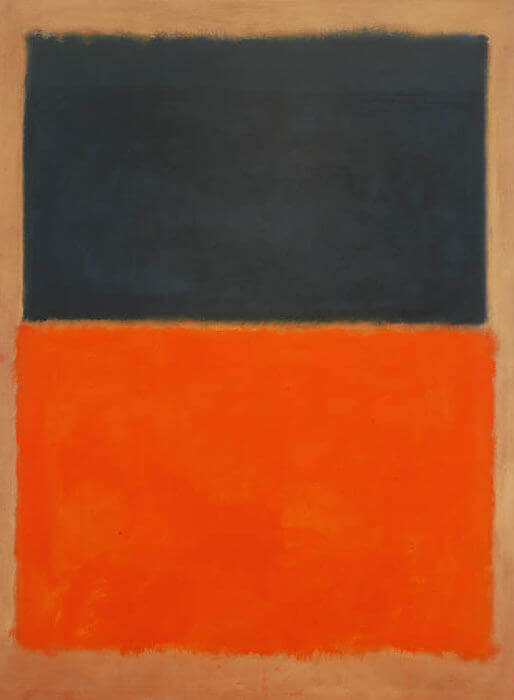 Green and Tangerine on Red, 1956 by Mark Rothko