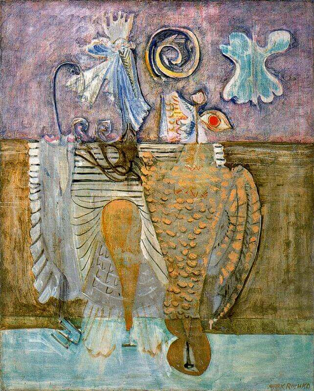Hierarchical Birds, 1942 by Mark Rothko