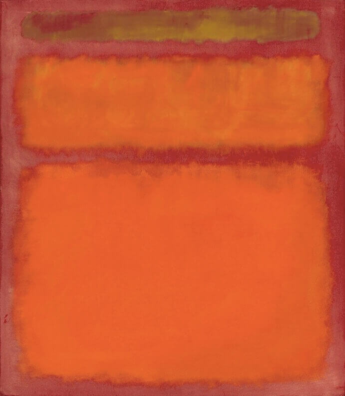 Orange, Red, Yellow, (1961) by Mark Rothko