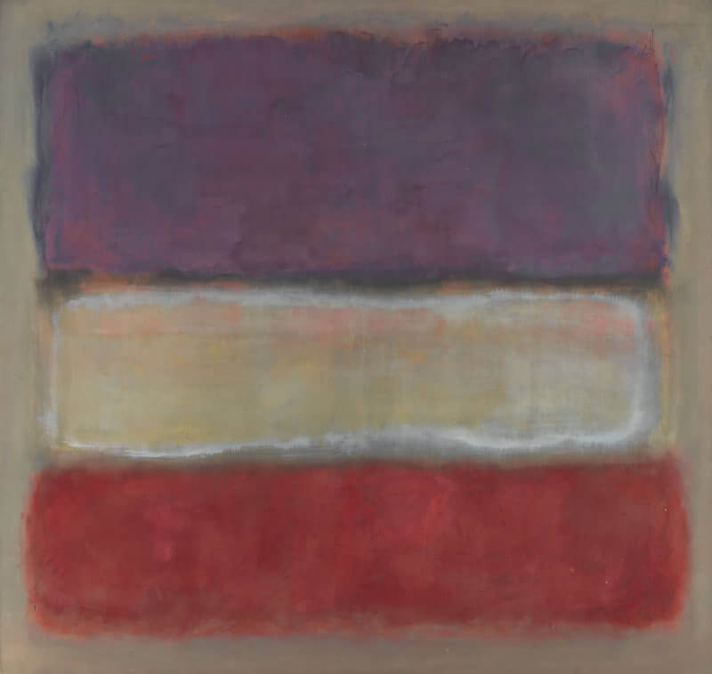 Purple White And Red 1953 By Mark Rothko