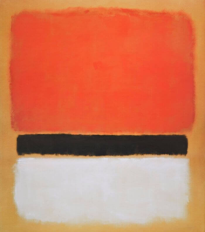 Red, Black, White on Yellow, 1955 by Mark Rothko