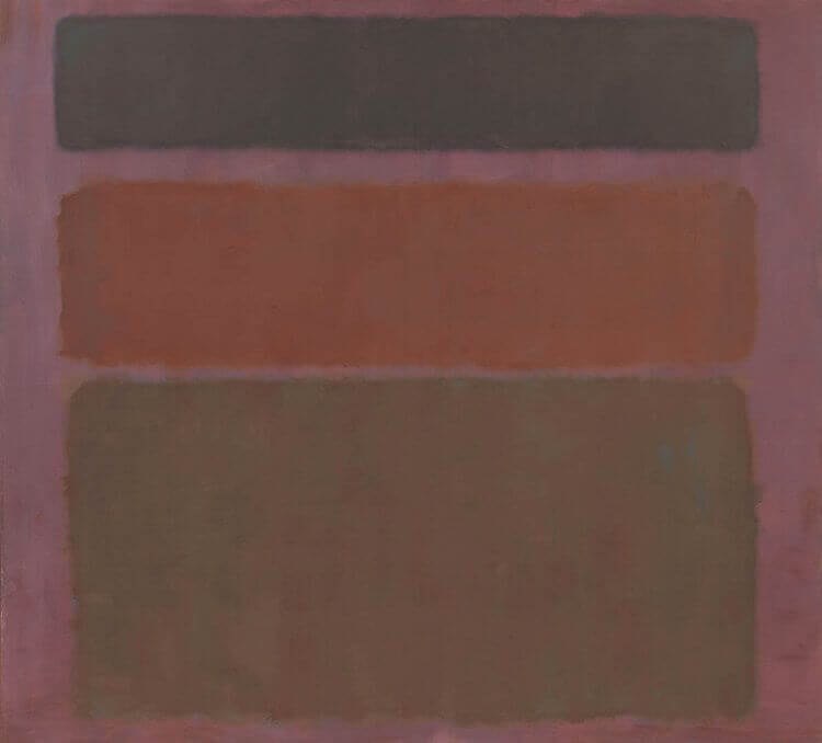 Red, Brown, and Black, (1958) by Mark Rothko