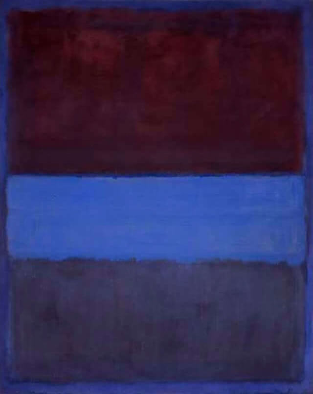 Rust and Blue (1953) by Mark Rothko