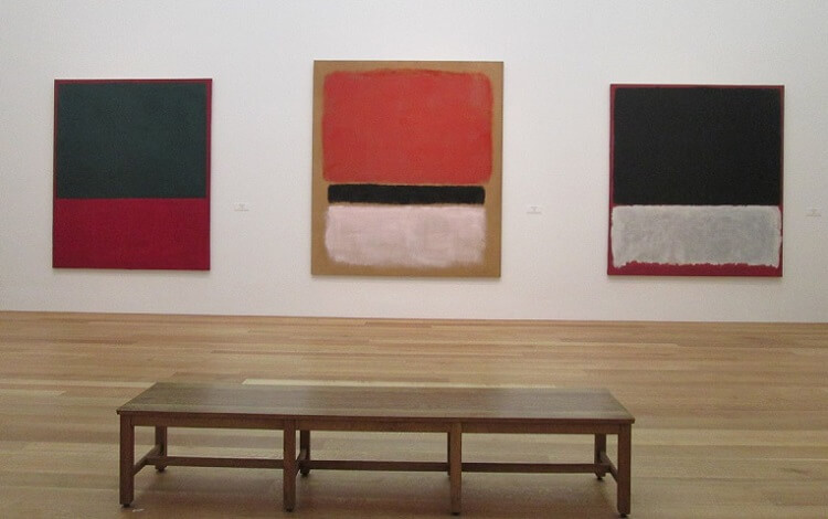 Photo of Red, Black, White on Yellow, 1955 by Mark Rothko